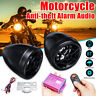 12V Motorcycle bluetooth Audio Anti-theft Alarm System MP3 FM SD USB Remote Horn