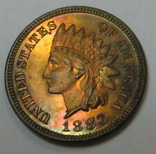 Attractive Gem Proof 1883 Indian Head Cent Gorgeous Toning   G92