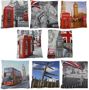 CUSHION COVER PHOTO DIGITAL PRINTED RETRO VINTAGE MODERN LONDON BRITISH NOVELTY