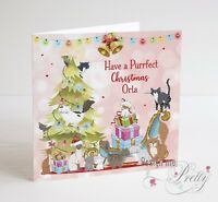 CAT LOVERS Personalised Christmas Card - Have A Purrfect Christmas
