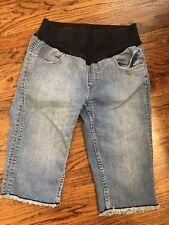 Maternity Jeans Bermuda Denim M American Star Embroidered Pockets Shorts