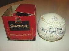 Vtg MacGregor Official Softball In Original Box  NEVER USED NEW 100NB Night Ball