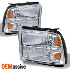 Fit 2005-2007 Ford F250 F350 F450 F550 Superduty Led Headlights Lamps Left+Right