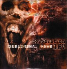 Corporation 187 ‎CD Subliminal Fear - Promo - Europe