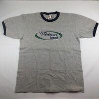 Dave Matthews Band Ringer Shirt Size XL Grey 90's Concert Tour K0020