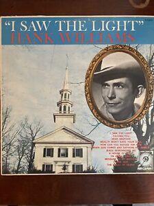 "Hank Williams Vintage LP ""I Saw The Light"""