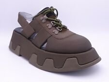 Camper Women's Wilma Extrem Olive Green Leather Sandals Size UK 6 EU 39