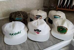 Lot of 6 Vintage Rare Skoal Bandit Rodeo Camo Tobacco Trucker Snapback Hats Caps