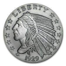 2 oz Silver Round - Incuse Indian - SKU #149354