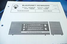 Service Manual-instrucciones para Blaupunkt Granada 7 628 500/Rüdesheim 7, original!