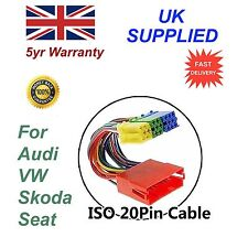 para VW mini iso Cable Adaptador distribuidor Conector 20 Pin Audio