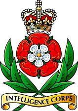 Incorniciato militare britannica stampa Insignia -- Intelligence Corps (CAP badge Esercito Art)