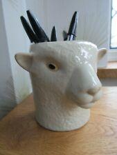 More details for quail ceramics southdown sheep  desk tidy pencil/pen / brush holder  new &boxed