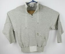 Ncaa Fitness Club Pullover 1/4 Zip Long Sleeve Shirt w/Pockets Gray Large L