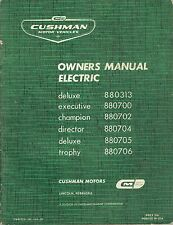 Cushman Owners Manual Deluxe Executive Champion Director Trophy Original 1964
