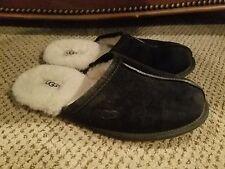 Ugg Australia Sheepskin Shearling Men's Scuff's 5776  Black Plush Size 9