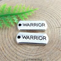 38pcs Vintage Silver Alloy WARRIOR Engraved Charms Pendant Jewelry Making 51411
