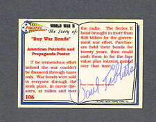Paul Tibbets signed Buy War Bonds card 1915-2007