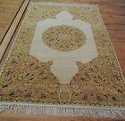 Striking 4x6  Transitional Oriental Area Rug Carpet Yellow Gold Medallion wool