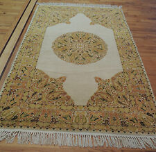 Striking 4x6  Transitional Oriental Area Rug Carpet Yellow Gold