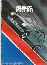 AUSTIN METRO S L HL HLS LAUNCH BROCHURE1.0/1.3  A4 1980