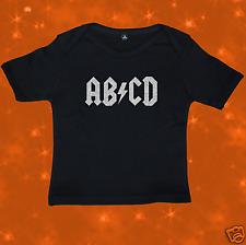 Funny Rock AC/DC AB/CD FAIRTRADE Baby T-Shirt 6-12 Mths