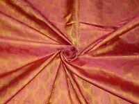 """BROCADE FABRIC Burnt Orange & Rust Colour 44"""""""