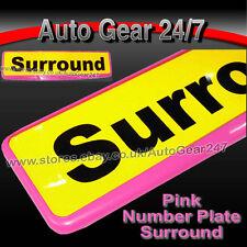 Car Number License Registration Plate Pink Trim Surround Frame Holder. SINGLE