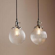Glass vintageretro ceiling pendants ebay home decor vintage industrial pendant lamp retro glass globe shade ceiling light mozeypictures Images