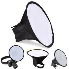 Round Flash Umbrella Softbox For Diffuser Speedlight Studio Photography Canon #