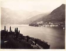 Lake Como Lot two albumen photos Torno da Moltrasio Villa Serbelloni 1870 XL110