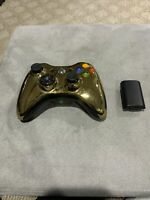 Microsoft Xbox 360 Special Edition Chrome GOLD Series Controller, Works No Issue