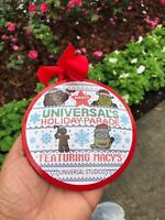 LIMITED EDITION! Universal Studios 2019 Macy's Parade Holiday Red Metal Ornament