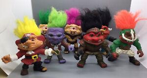 Vintage 1992 Lot Of 7 Battle Trolls - Hasbro