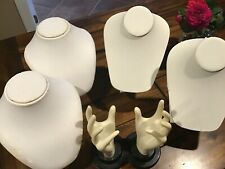 Lot of 5 jewelry display necklace and ring stands / holder for seller