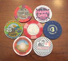 Lot of 7 Old / Obsolete & Vintage Casino Chips