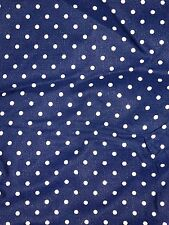 """Vintage 60S Silky Polka Dot Dressmaking Fabric Material Large Piece 140"""" By 36"""""""