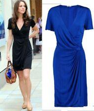 ISSA Dress BLUE, short sleeve,  Size 18,  BNWT Aso royal