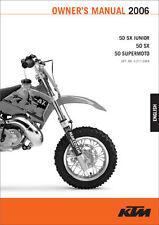 2002-2006 KTM 50SX Junior 50SX 50 Supermoto Owners Manual Paper In Spanish : ...