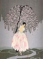 "Erte    (Romain De Tirtoff)      ""Blossom Umbrella""   Serigraph   MAKE OFFER  BA"