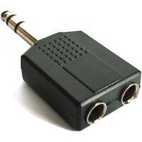 6.35mm STEREO Jack Plug to 2 x 6.35 mm MONO / Stereo Y Splitter Adaptor 6.3 mm