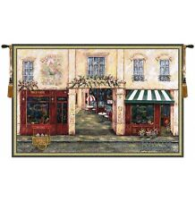 "EUROPEAN CAFE PICTURE TAPESTRY LUCHON TERRACE TERRASSE VIEW 46""x70"""