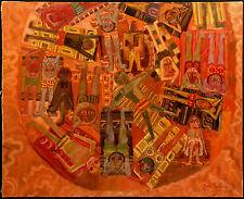 """Josette Bardoux """"Les Grandes Vacances"""" Original French Oil Painting Canvas OBO"""