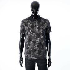 BERLUTI 540$ Printed Crest Logo Polo Shirt In Black Cotton