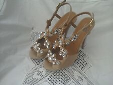 ***KURT GEIGER GLAMOROUS JEWELLED PARTY SHOES SIZE 39 EU EX.CON***