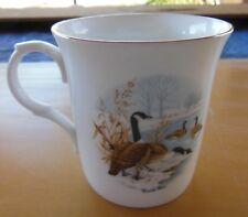 Crown Trent Fine Bone China Canada Geese Mug Gold Trim Staffordshire England