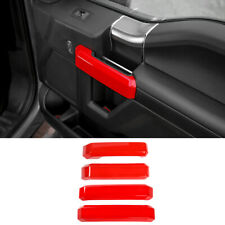 Red Interior Car Door Handle Decor Cover Trim For Ford F150 2015-20 Accessories