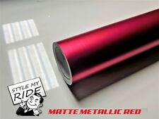 3M x 1.52M Matte Metallic Red Vinyl Car Wrap with Air Release Technology