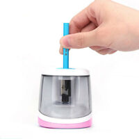 Pink Automatic Electric Pencil Sharpener Battery Operated School Stationery VSY