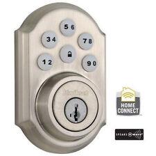 KWIKSET SMARTCODE KEYLESS ENTRY W/ Z-WAVE 910 Satin Nickel Silver Deadbolt Lock